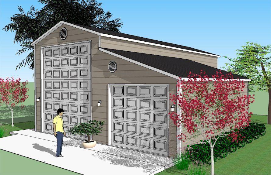 Rv Garage With Boat Garage Plans Rv Garage Garage Pole Barn Homes