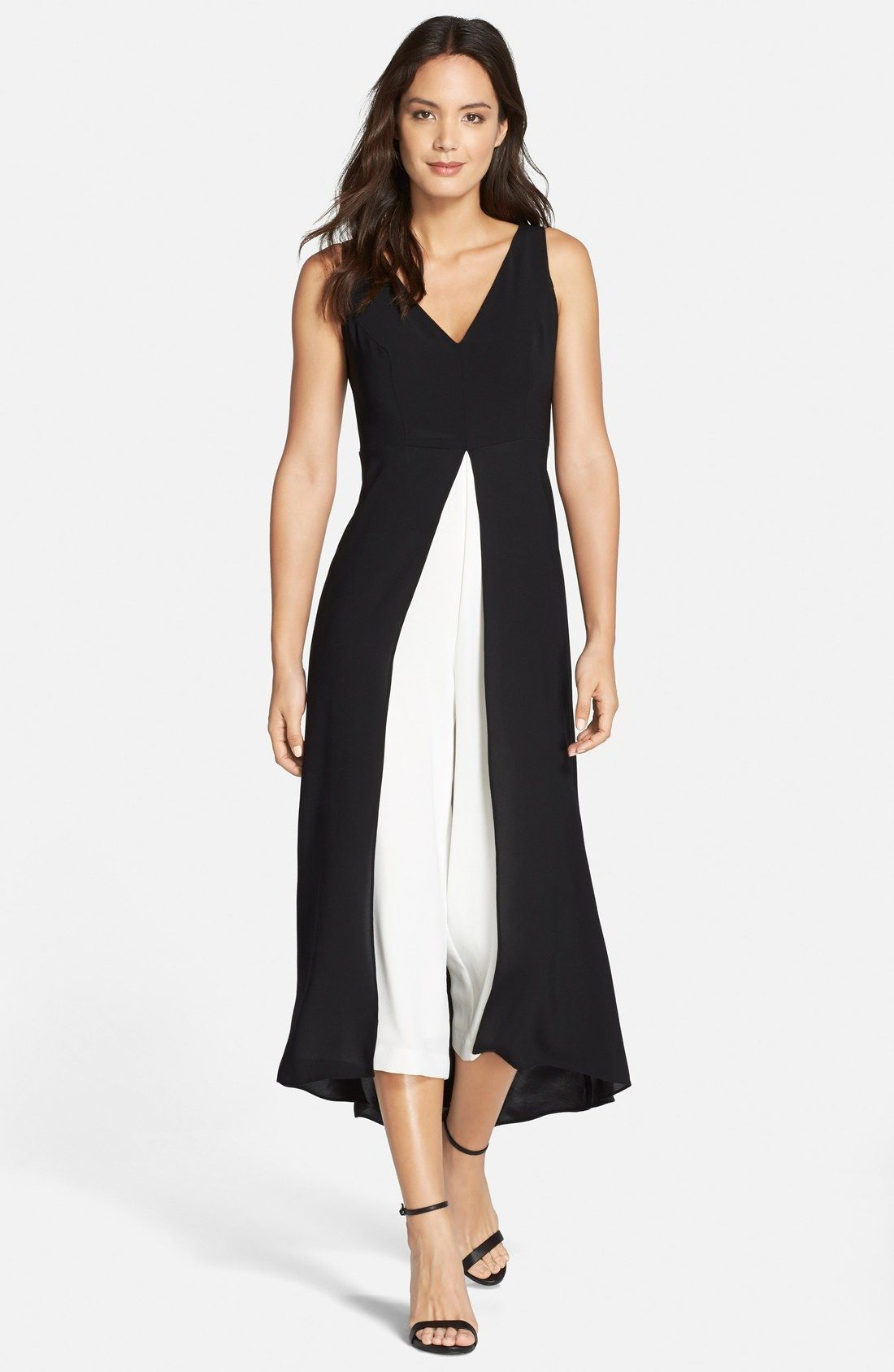 dc195f99872 Adrianna Papell Colorblock Crepe Jumpsuit available at  Nordstrom ...