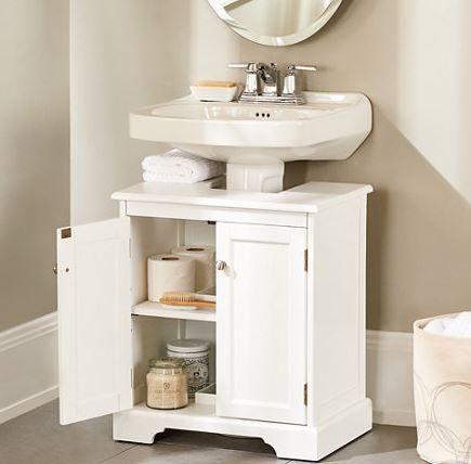 Muebles para lavabos con pedestal estilo cl sico ba os for Gabinete de almacenamiento de bano barato