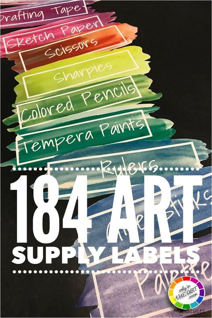 EDITABLE Art Classroom Supply Labels for Art classrooms Art Teachers printable #art #supplies #organization #diy