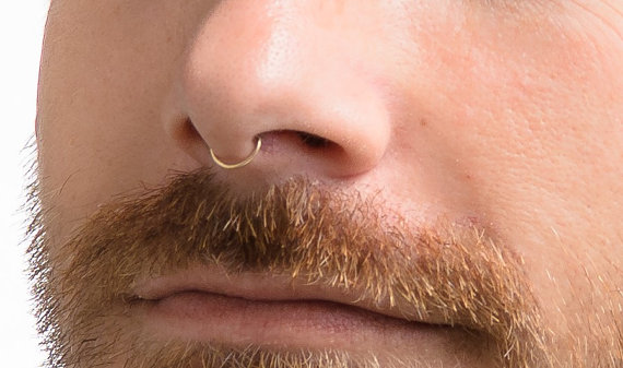 Faux Nose Septum Fake Nose Hoop Gold Septum Faux Septum Etsy Faux Septum Fake Nose Rings Faux Septum Ring