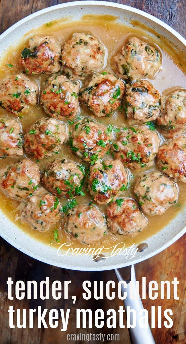 Turkey Meatballs - Craving Tasty