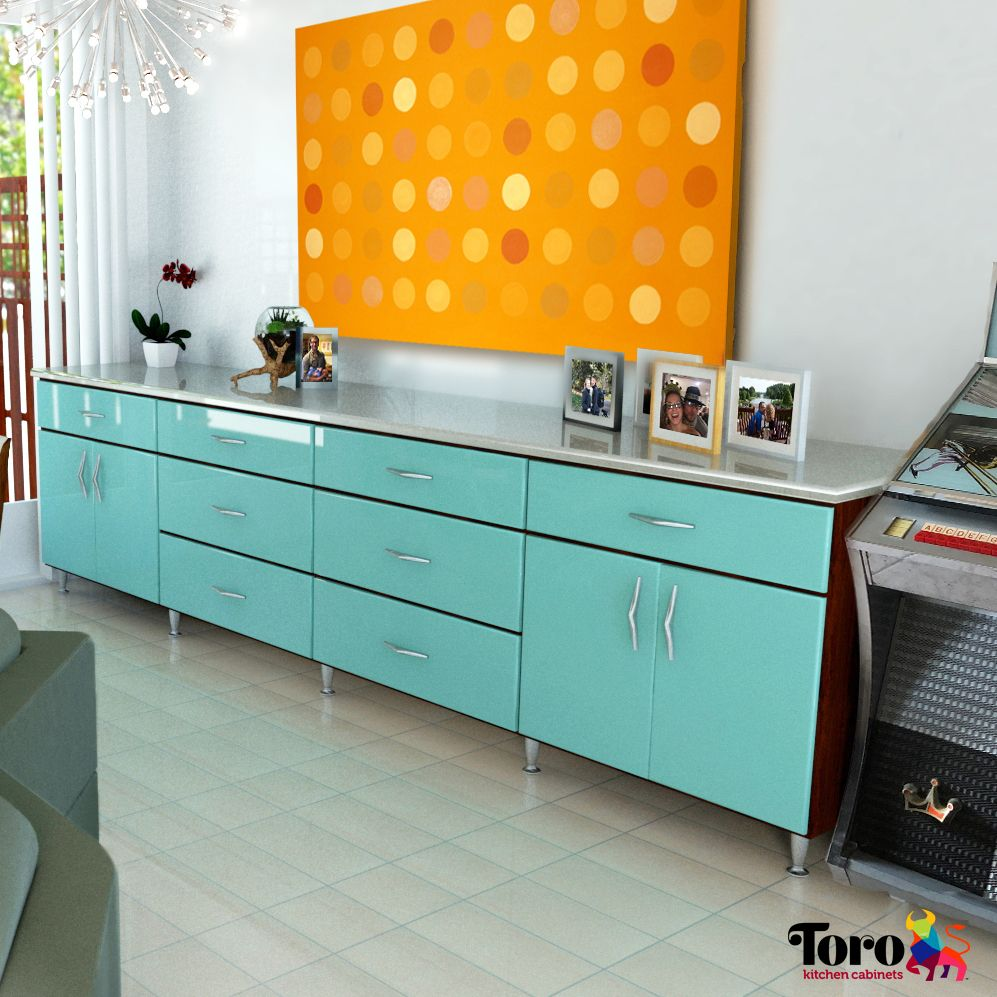 Living room buffet, perfect for entertaining. Metal ...