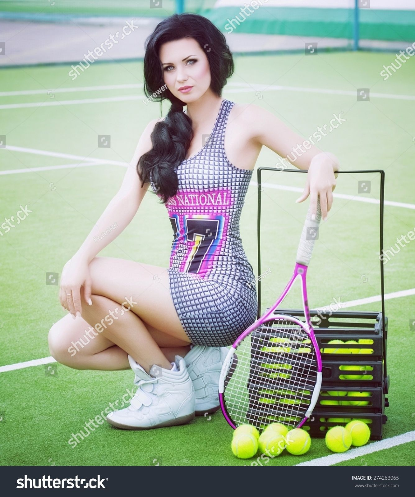 Beautiful Woman Playing Tennis Ad Ad Woman Beautiful Tennis Playing In 2020 Photo Editing Stock Photos Mockup Design