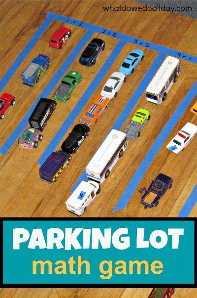 Fun Math Activity Parking Lot Addition Math Activities