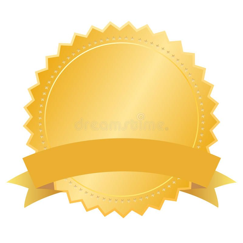 Vector Blank Gold Seal Isolated On White Sponsored Ad Ad Blank White Isolated Vector Vector Illustration Vector Art