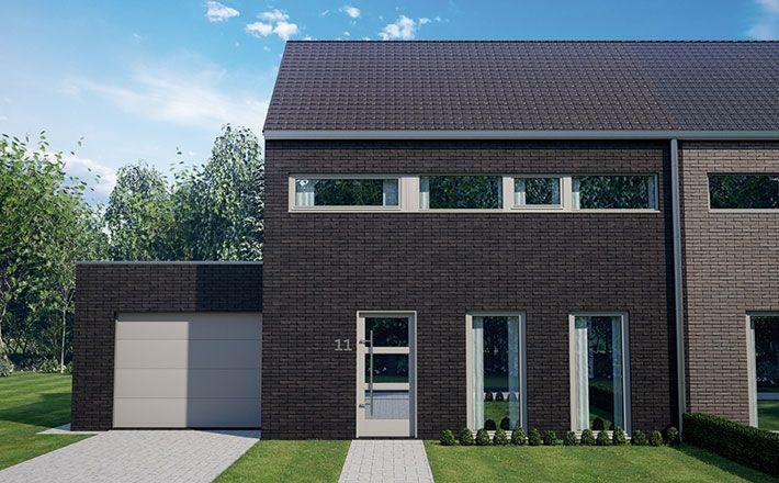 Blavier mooi huis bl 417 voorgevel housebuilding for Huizen stijlen