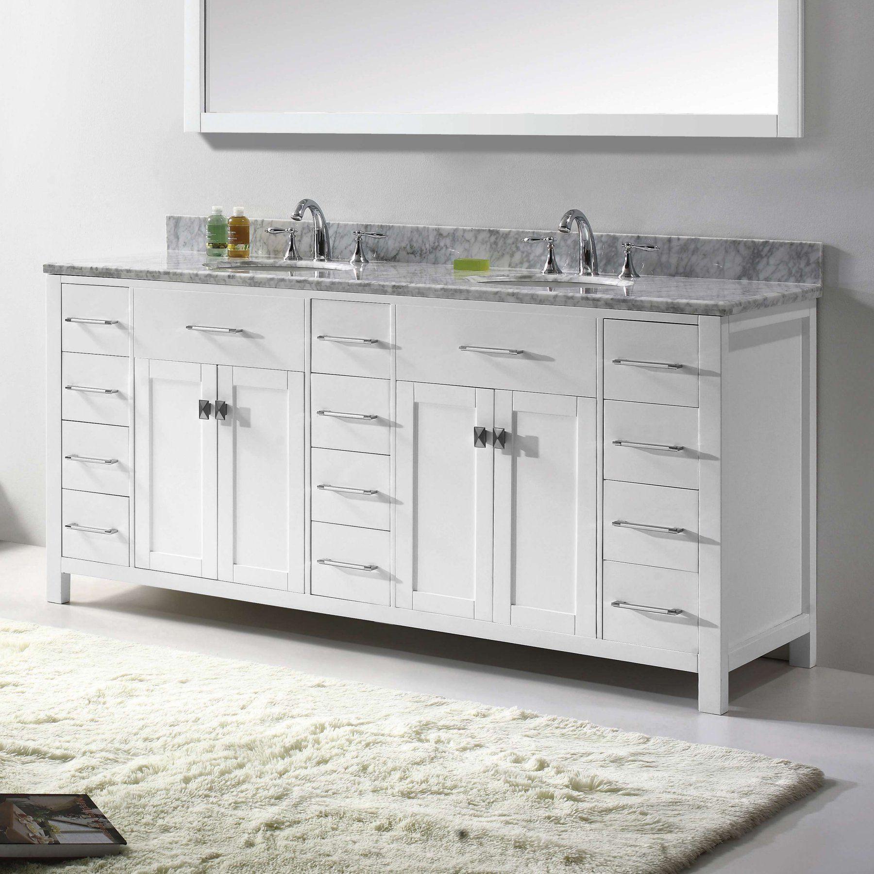 Virtu Usa Caroline Parkway 72 In Double Bathroom Vanity With
