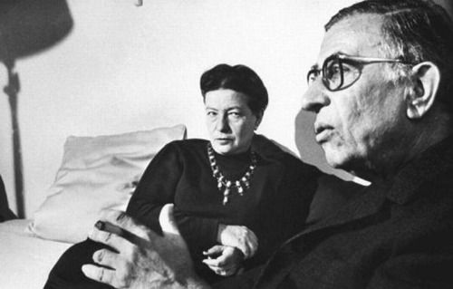 Dean Loomis Simone de Beauvoir & Jean Paul Sartre, Paris 1964