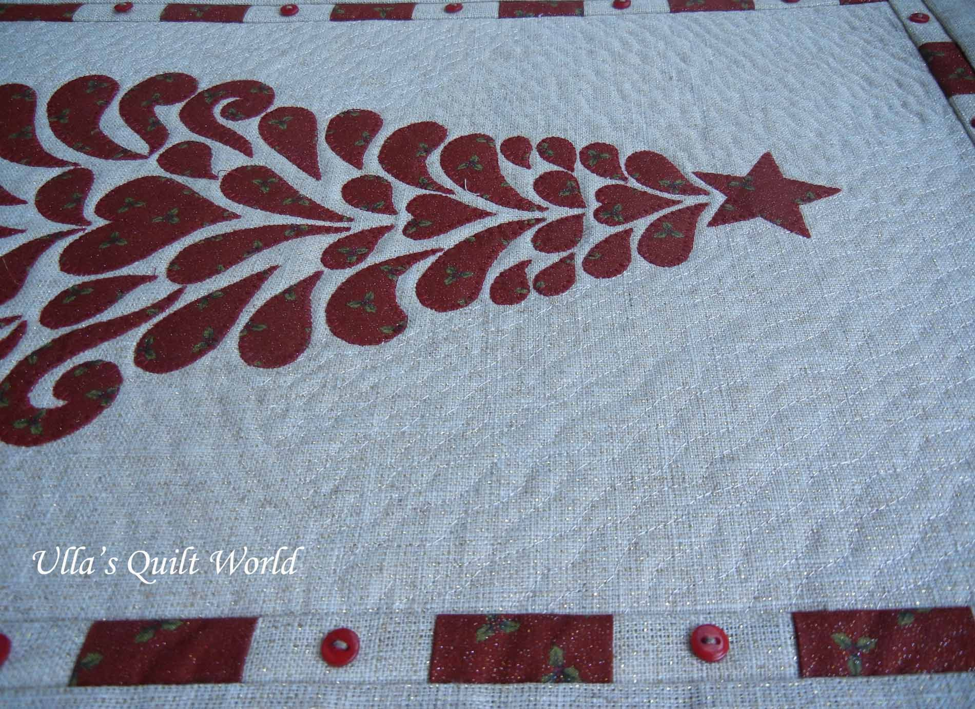 Christmas tree Quilt - Wall hanging Ulla's Quilt World