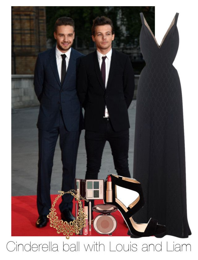 """Cinderella ball with the lads"" by one-direction-has-that-one-thing ❤ liked on Polyvore featuring moda, Temperley London, Charlotte Tilbury e Oscar de la Renta"