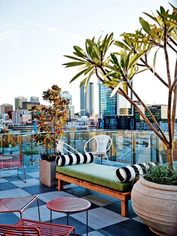 Inside Perth S Alex Hotel Alex Hotel Rooftop Design Patio Garden Design
