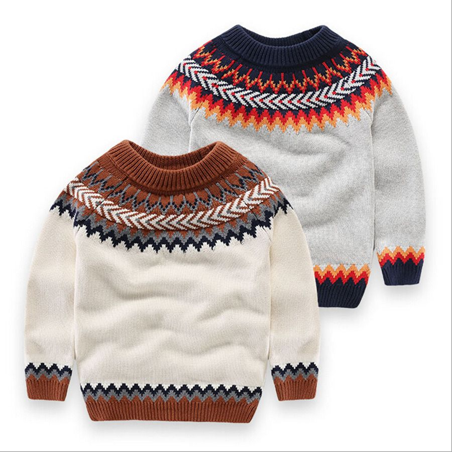 New Arrival Boy Sweater Pullover Kids Top Quality Knitwear Baby Boys