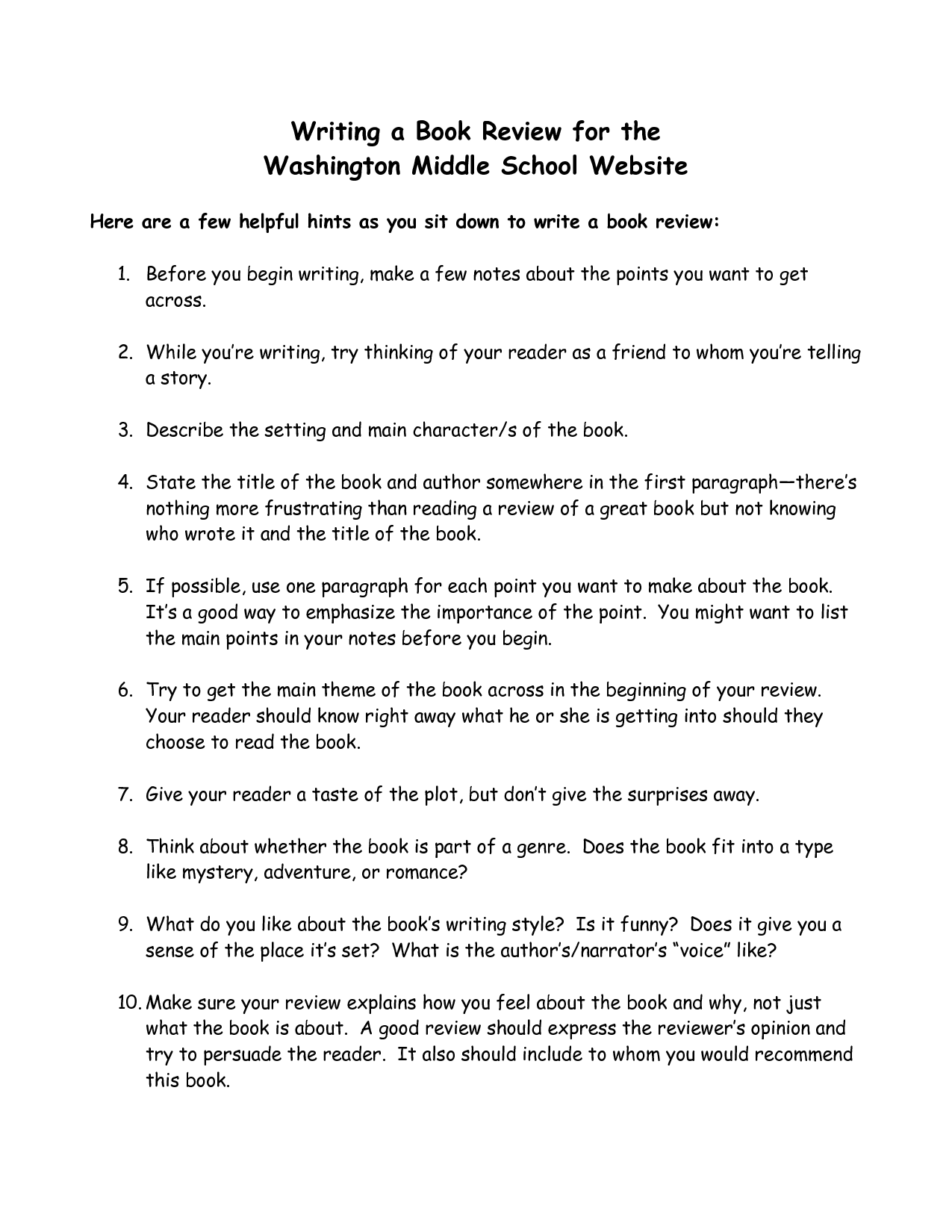 Book review essay writing useful phrases
