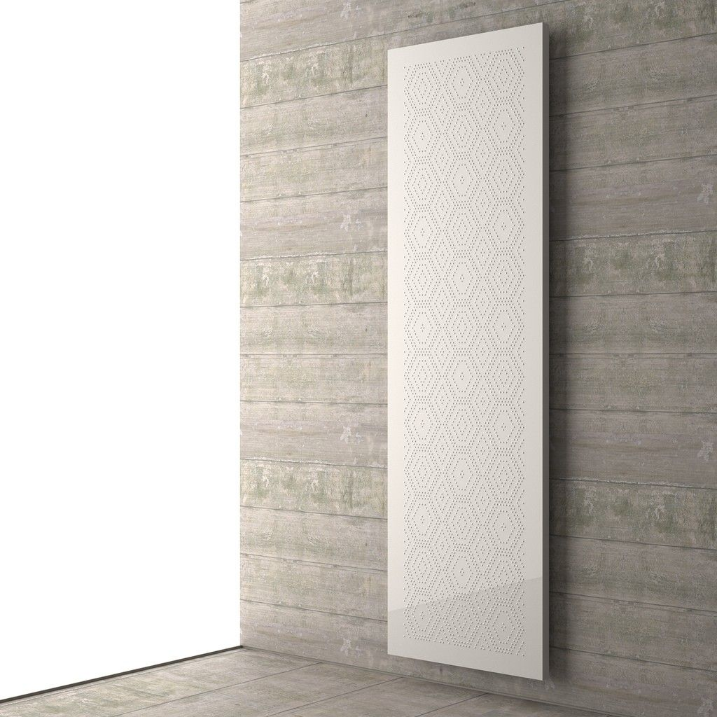 White mosaic tall radiator