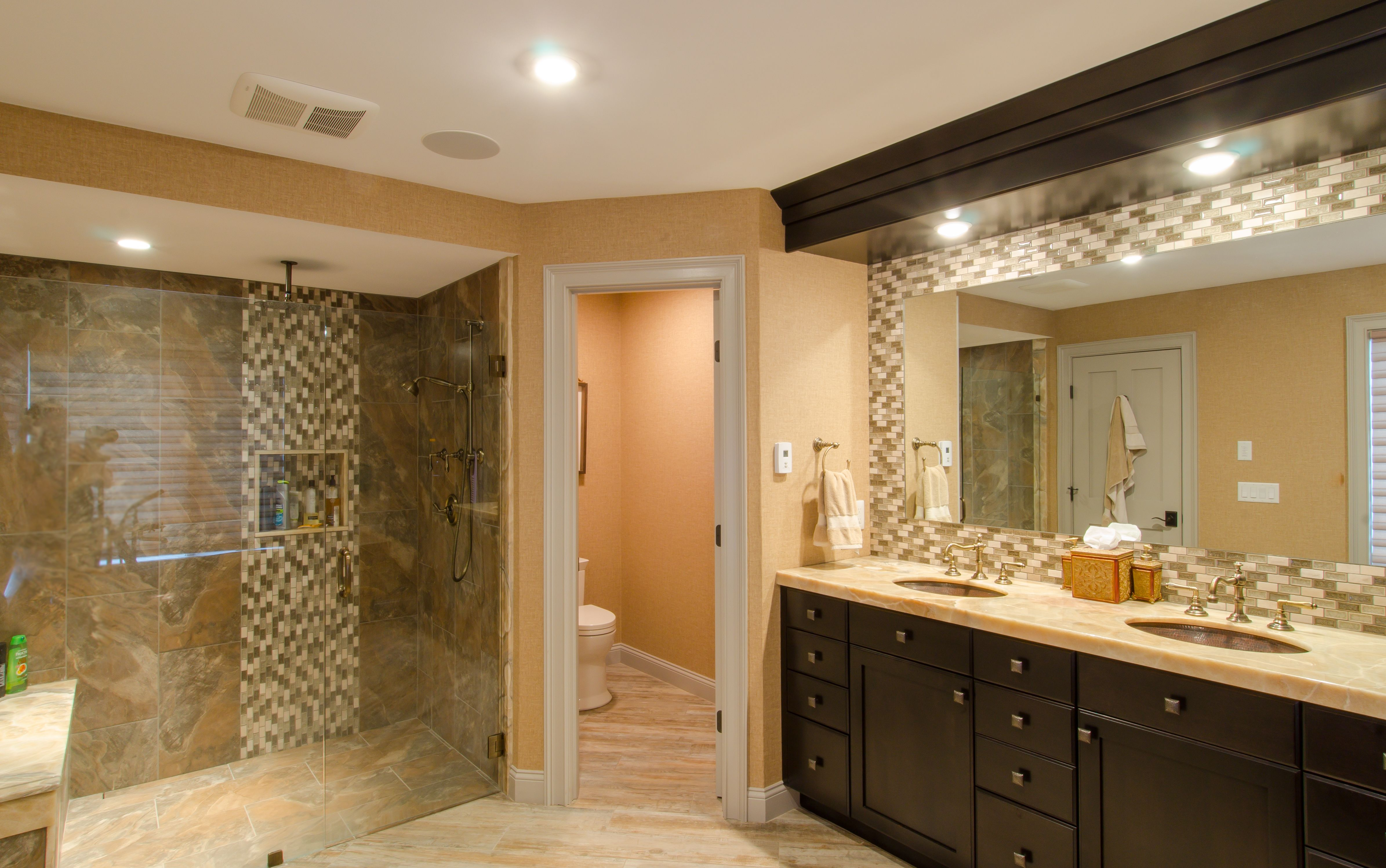 Admirable Cherry Wood Bathroom Stained Cherry Wood Vanity With Built Andrewgaddart Wooden Chair Designs For Living Room Andrewgaddartcom