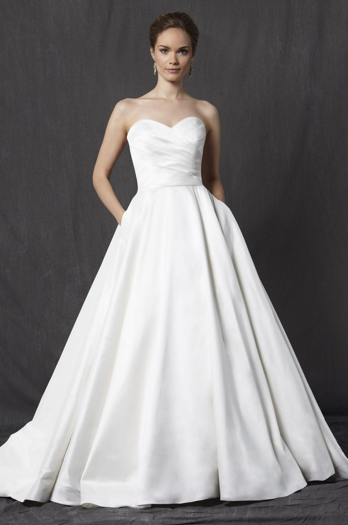 Clic Silk A Line Wedding Dress Michelle Roth Style Voltaire