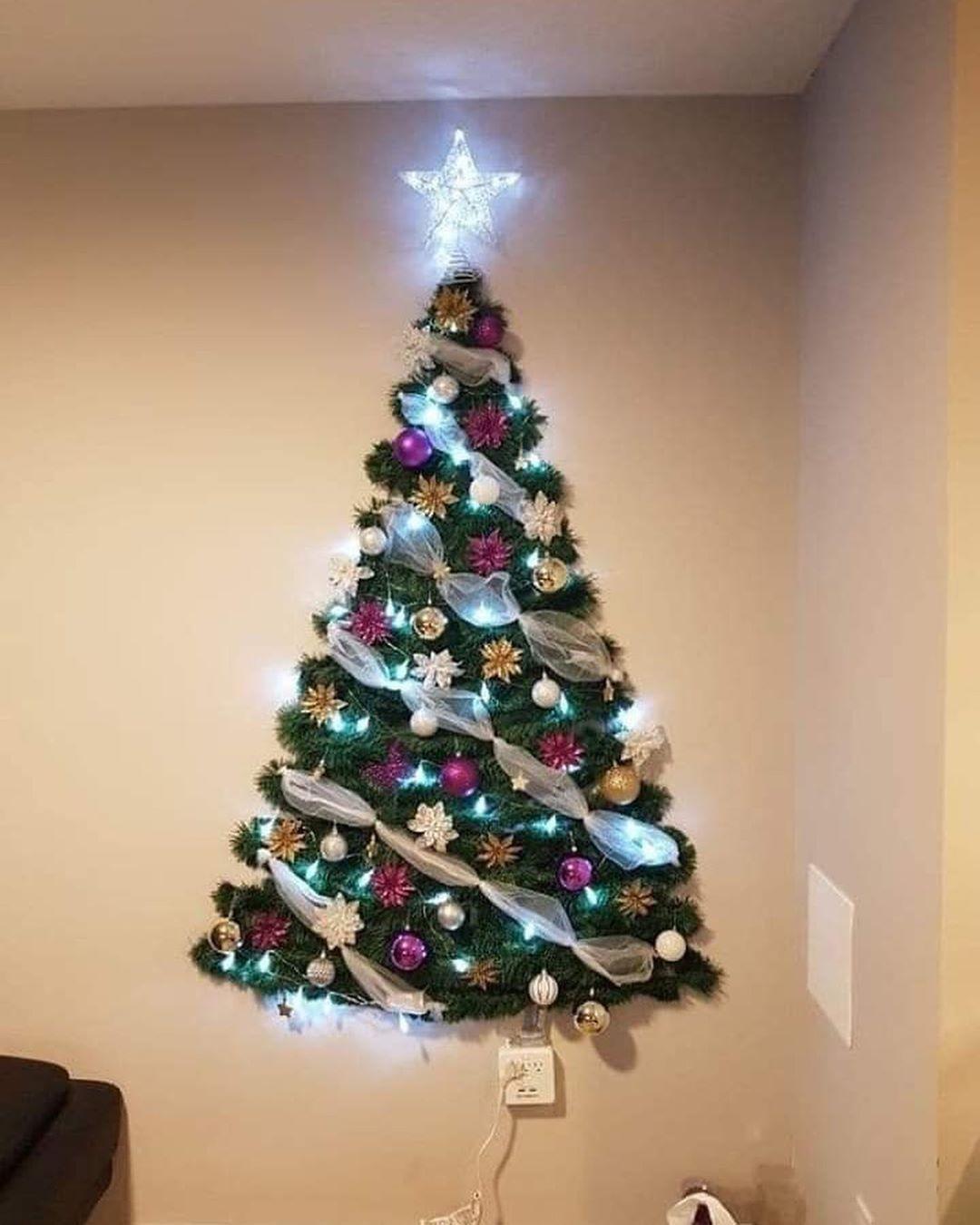 7 039 Me Gusta 145 Comentarios Creativos Soycreativos En Instagram Arbolitos Navidenos De Pa In 2020 Wall Christmas Tree Diy Christmas Tree Flat Christmas Tree