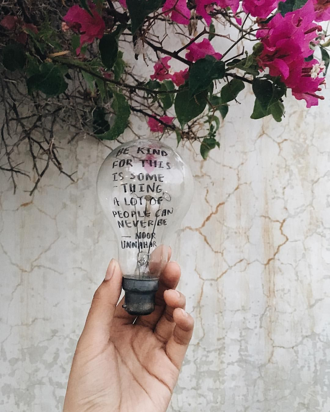 Kindness An Old Poetry Piece On An Even Older Bulb By Noor
