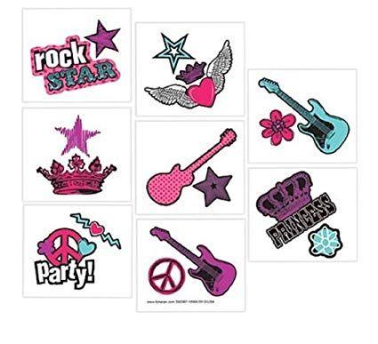 Princess Rock Star Party Favors #rockstarparty