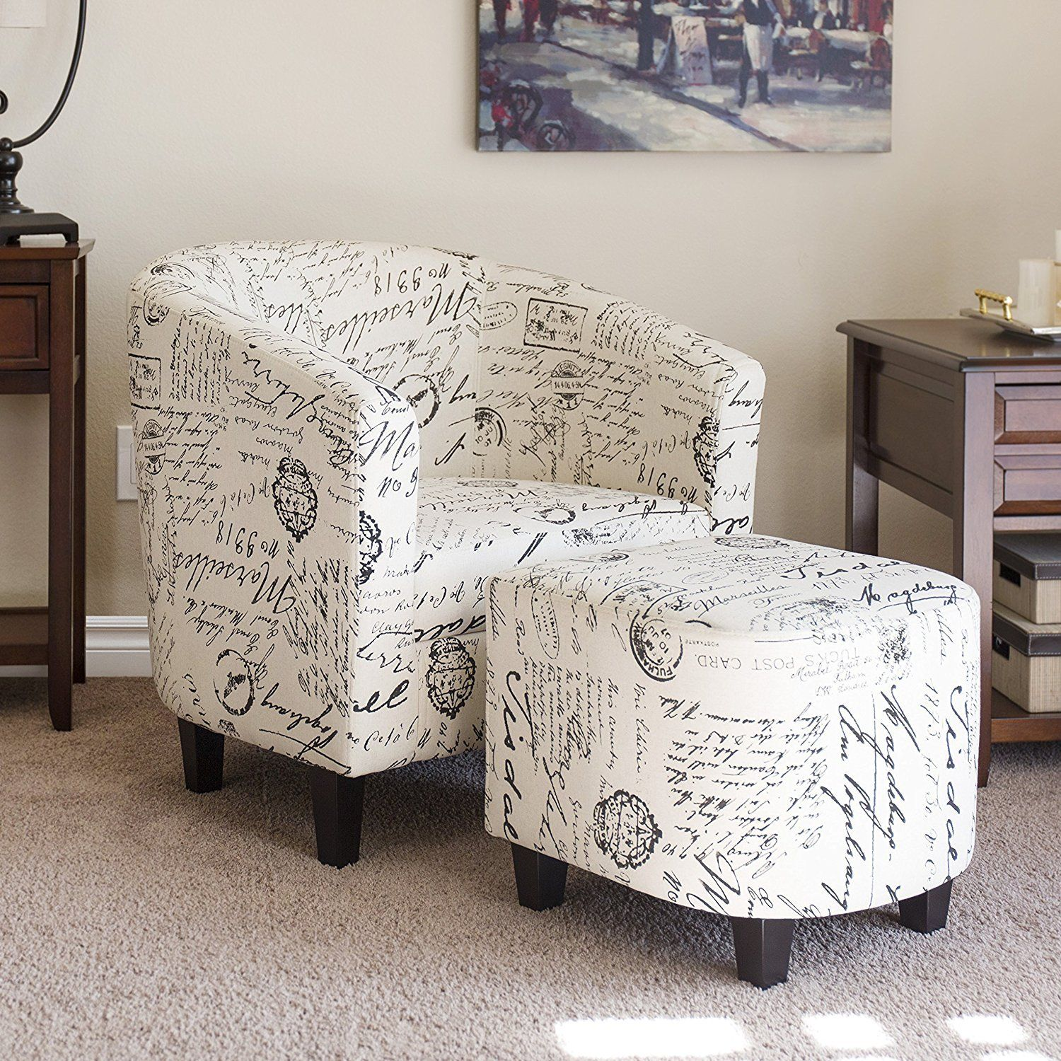 Room · merax script linen fabric accent chair upholstered living