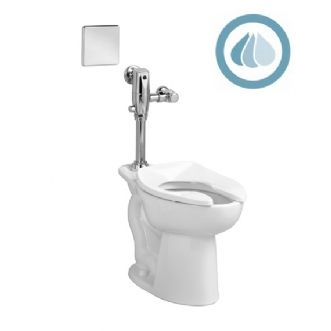 American Standard Selectronic Exposed Ac 1 28 1 1 Gpf Dual Flush Toilet Fv Ada Compliant High Efficiency Dual F Toilet Flush Valve Flush Valves Toilet