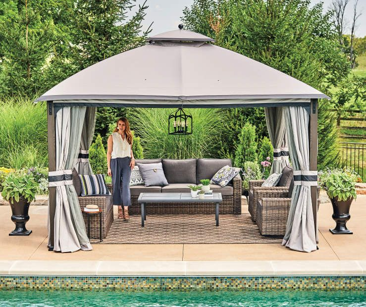 I Found A Shadow Creek Gazebo 10 X 12 At Big Lots For Less Find More At Biglots Com Gazebo Big Lots Patio Decor Gazebo