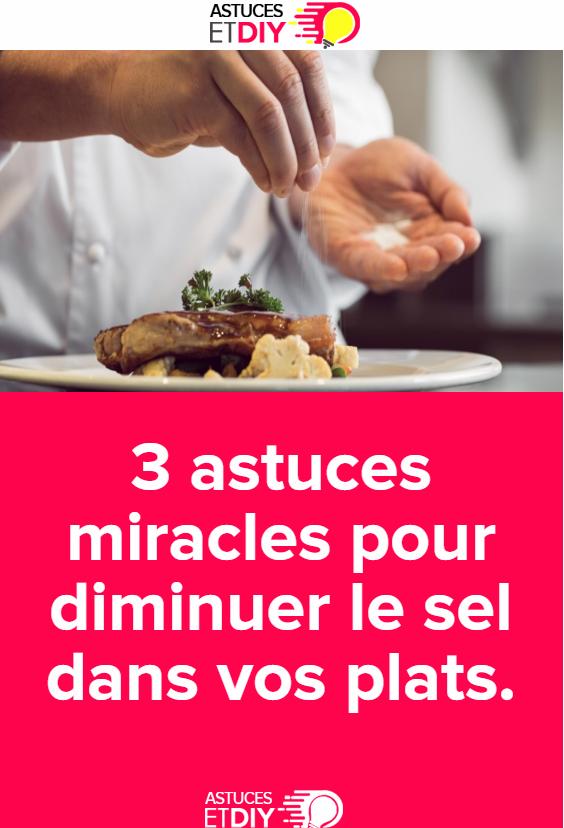 3 astuces miracles pour diminuer le sel dans vos plats | Recette oeuf