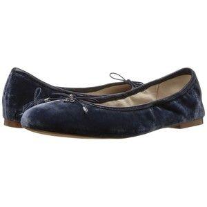 6a937c0cb Sam Edelman Felicia (Sterling Blue Silky Velvet) Women s Flat Shoes ...