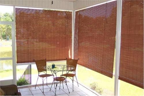 Perk Up Your Patio With Outdoor Sun Shades The Finishing Touch Outdoor Blinds Porch Shades Exterior Blinds