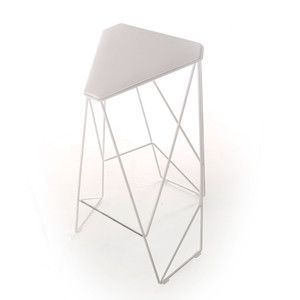 Tripod High Stool White now featured on Fab.
