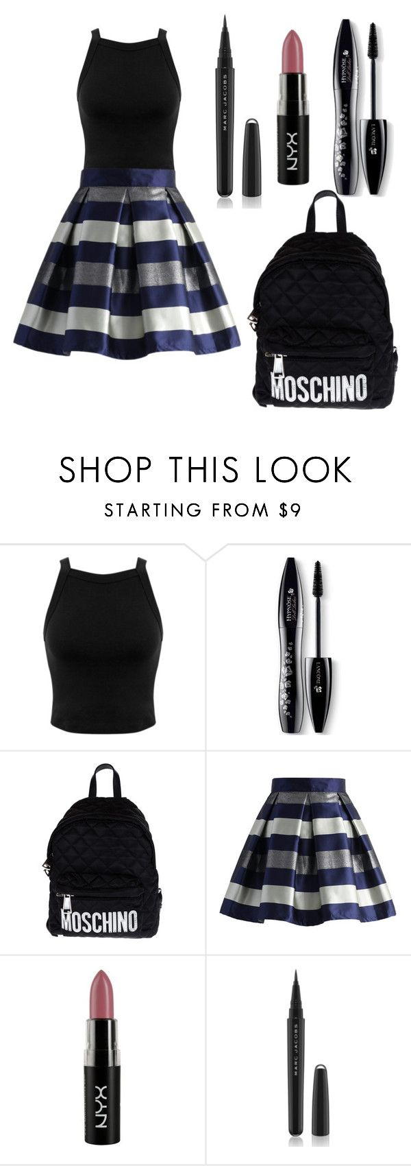 """Classy"" by natasha1234 ❤ liked on Polyvore featuring Miss Selfridge, Lancôme, Moschino, Chicwish, NYX, Marc Jacobs, women's clothing, women, female and woman"