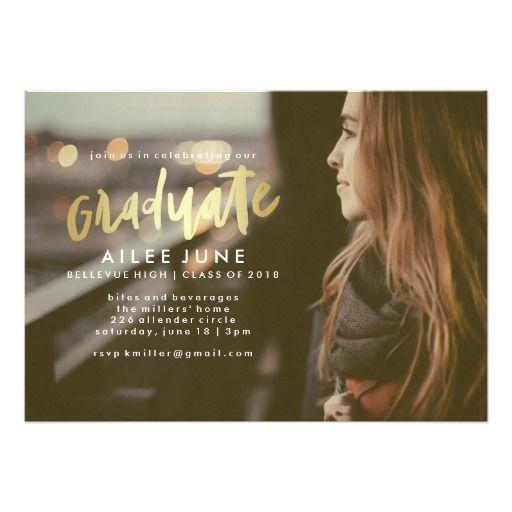Golden Graduate   Graduation Invitation Cards designed by @montgomeryfest