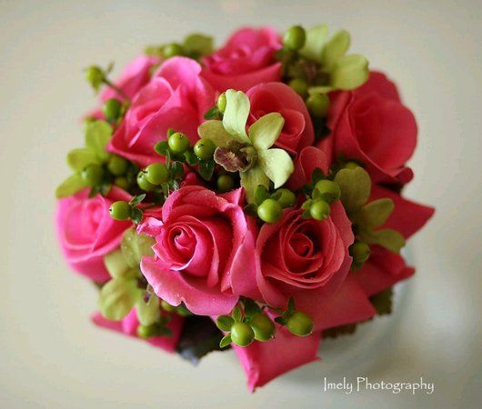 Wedding, Pink, Green, Bridesmaids, Flowers by fudgie, Bq - Project Wedding