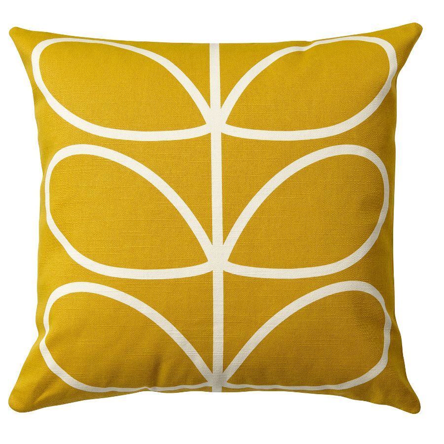 Orla Kiely Linear Stem Cushion Sunflower Yellow From Www Ilratedliving Co Uk