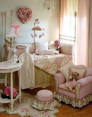Pink & cream nursery