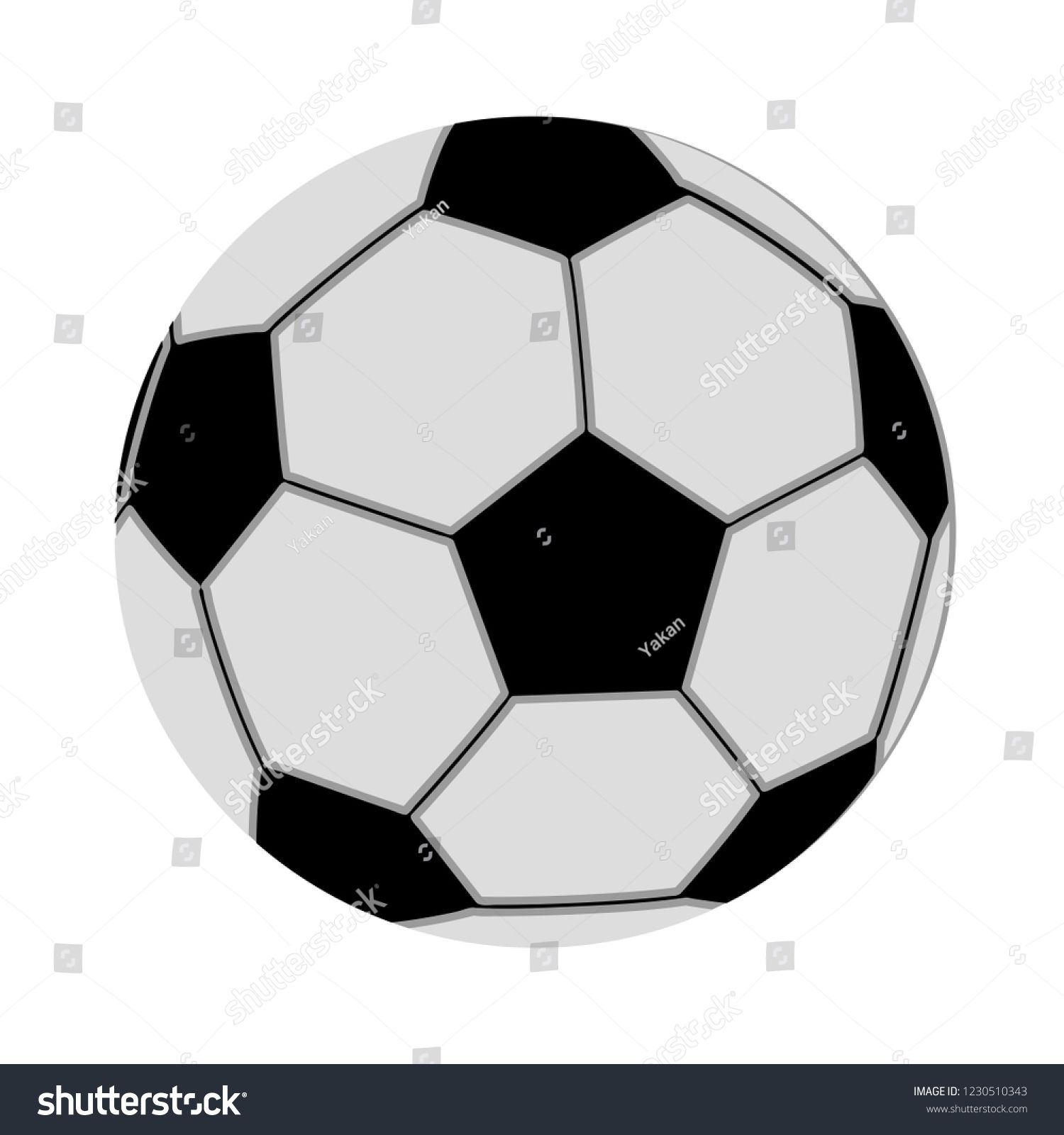 Vector Soccer Sport Ball Isolated Icon Play Football Illustration Sports Sign Symbol Play Game Vector Ball Isolated Icon Soccer Sports Balls Sports Signs