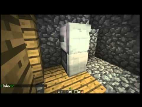 How To Make A Refrigerator In Minecraft Minecraft Furniture Episode 6 Minecraft Furniture Minecraft Minecraft Kit