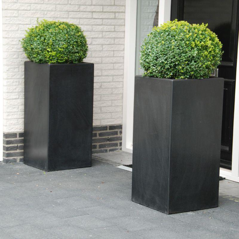 lightweight fibreglass garden planter adezz buxus high cube square black deco pinterest. Black Bedroom Furniture Sets. Home Design Ideas