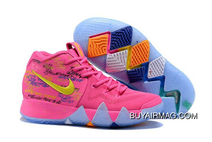 2020 Nike Christmas Themed Releases Nike Kyrie 4 What The Nike Kyrie 4 Christmas Pink Teal Basketball