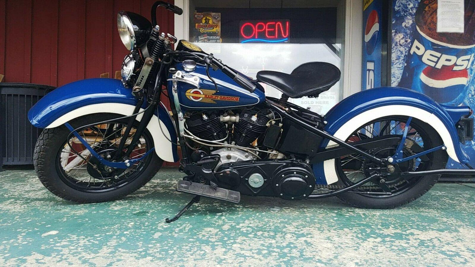 1937 Harley Davidson El Harley Davidson 1937 Knucklehead Harley