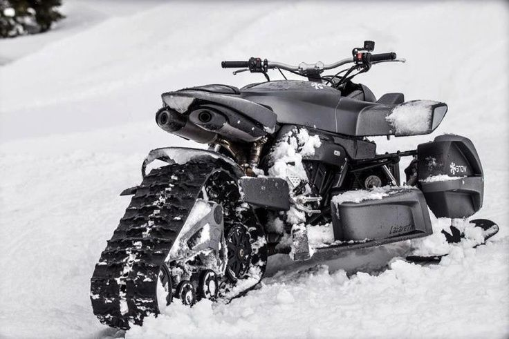 Yamaha R1 Motorcycle Converted Into A Snowmobile Want
