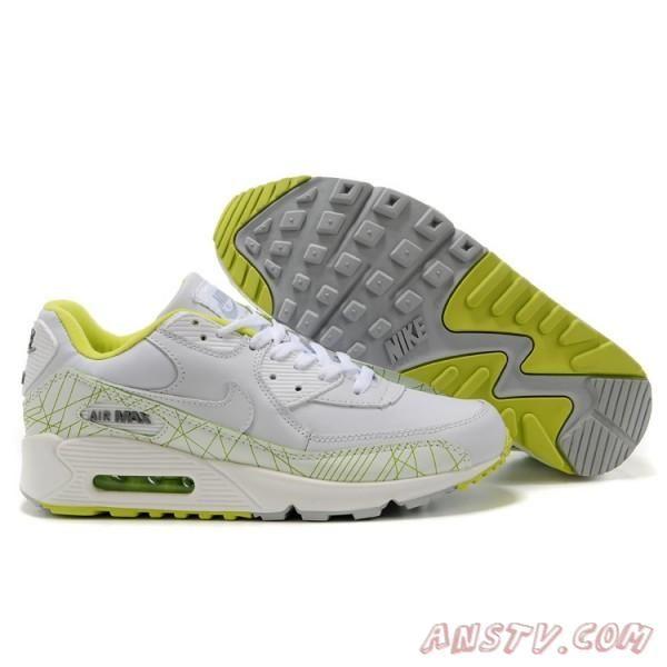 new products 2051d 45add 2014 New Air Max Femme Hommes Nike Air Max 90 Vert / Blanc | Fashion ...
