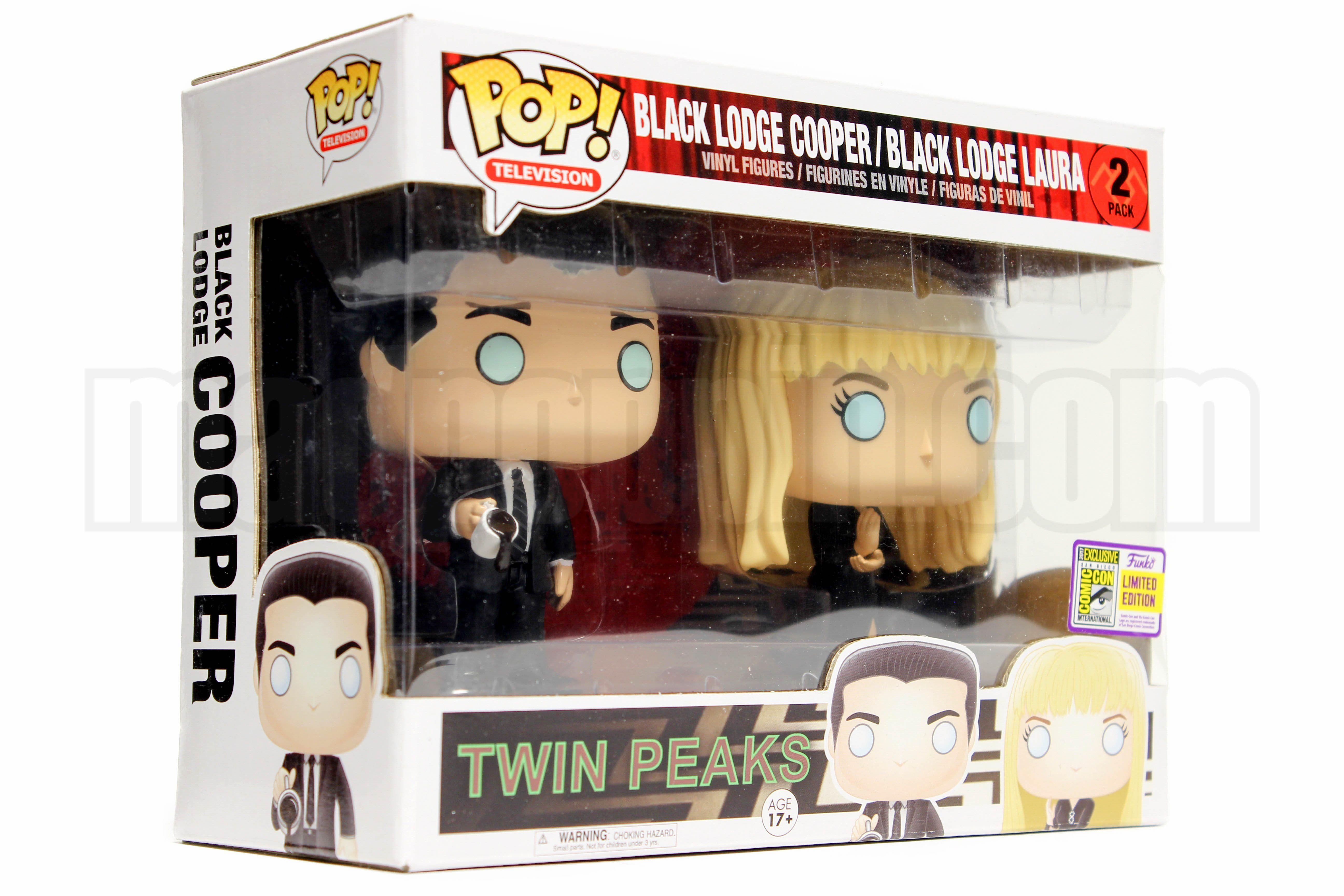 Funko Pop 2 pack Laura Palmer Dale Cooper Twin Peaks  SDCC 2017 San Diego