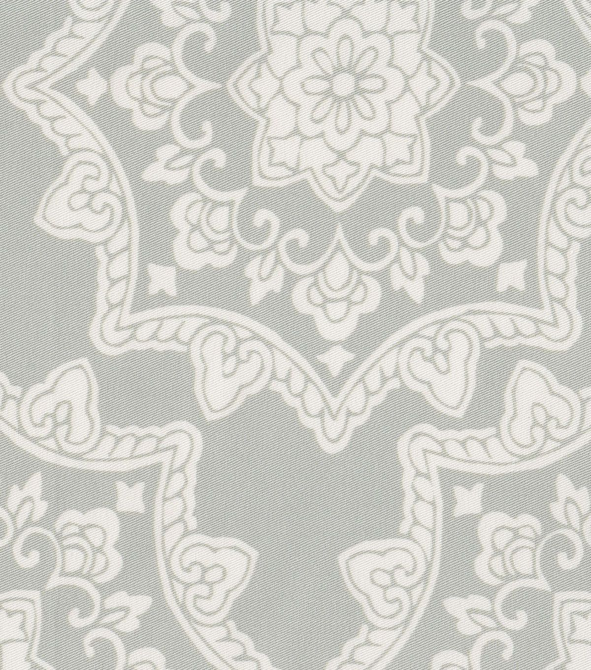 "54"" home décor value print fabric - gray lace stamp 