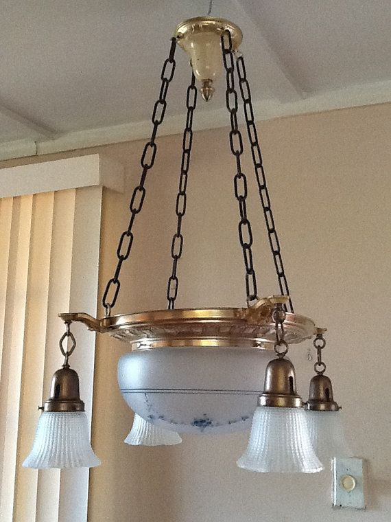 Antique Chandelier 4 lights with Victorian by AntiqueLights, $250.00