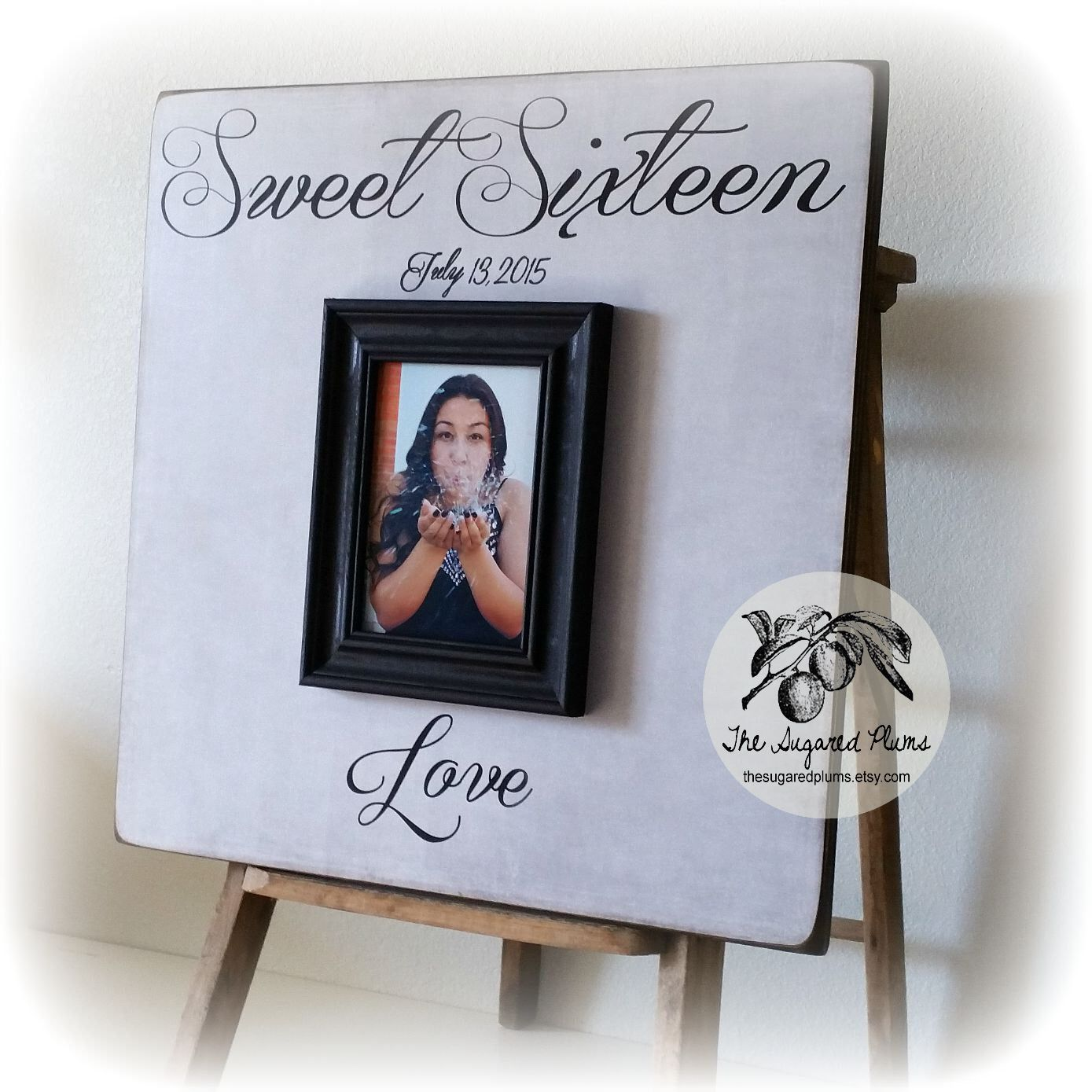 Sweet 16 Decoration Guest Book Alternative, Gold Sparkles, Welcome Sign Sweet Sixteen, Quinceanera, 20x20 The Sugared Plums