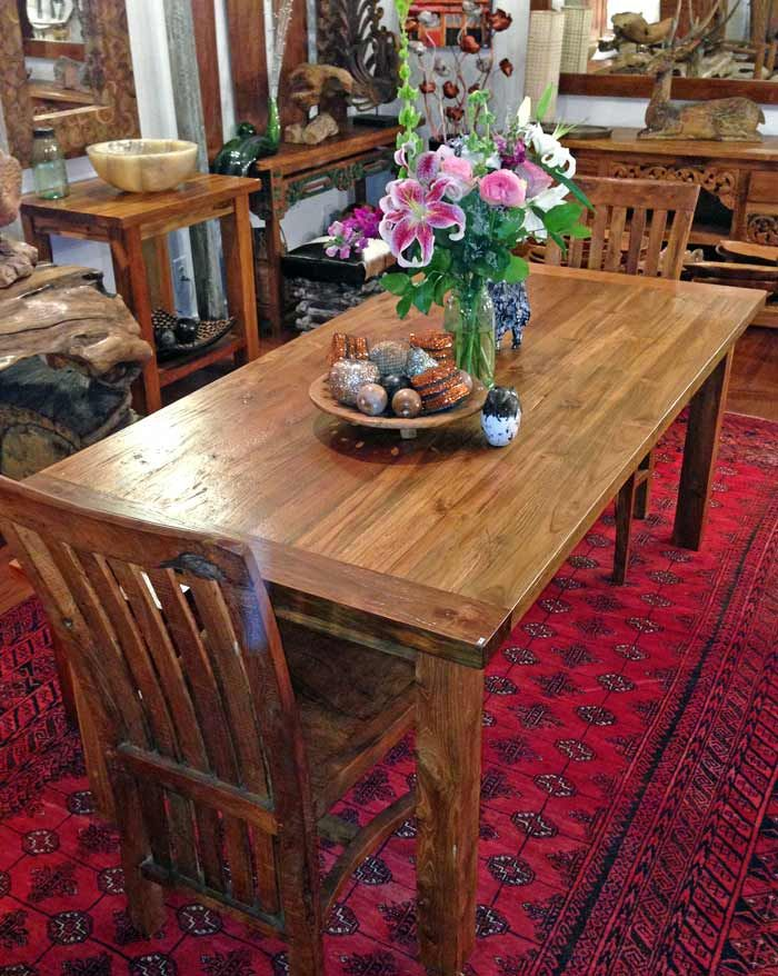 Teak Dining Table 3 Foot X 6 Foot With 4 Legs From Impact Imports Of Boise And Philadelphia Teak Dining Table Dining Table Dining