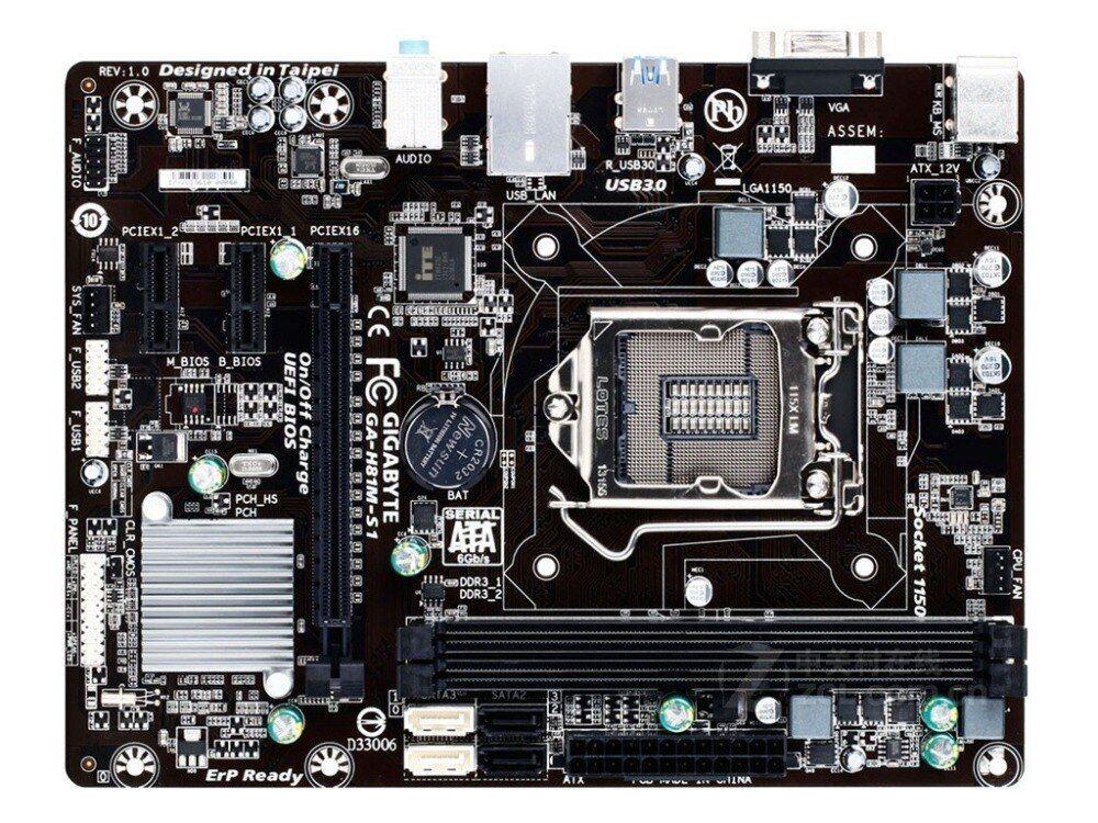 GA-H81M-S1 GIGABYTE Desktop Motherboard H81 Socket LGA 1150 i3 i5 i7 DDR3 16G