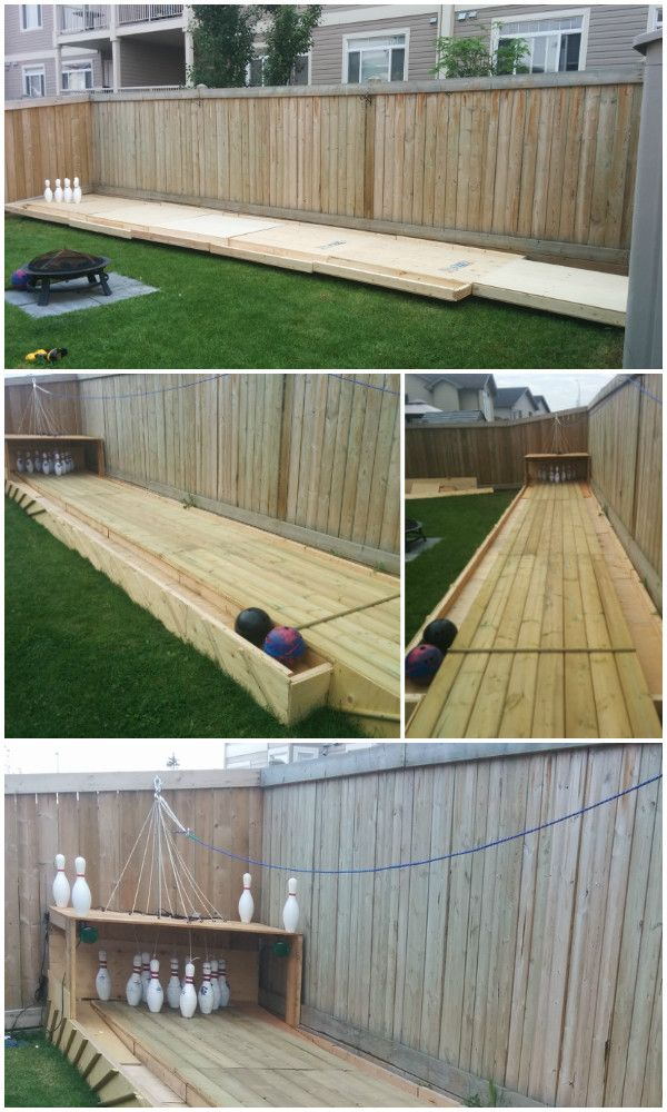 DIY Backyard Wood Bowling Alley Free Plan (With images ...